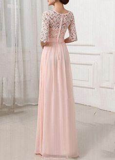 Pierced Sleeve Zipper Closure Maxi Dress