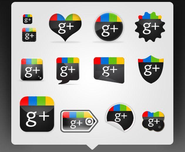 Iconos Sociales de Google+  redes socailes, google+, plantatercera