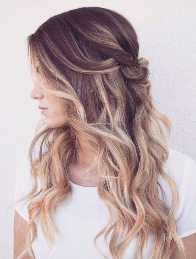 Pulled Back Faded Hair Hair Styles Wedding Hairstyles For Long Hair