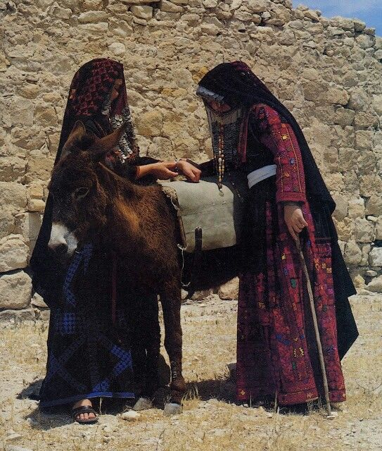 Bedu Women Arab Culture Palestinian Costumes Thobe