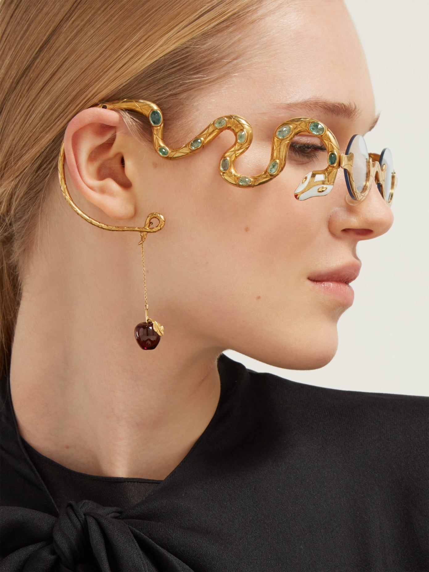 Photo of Eve emerald & diamond gold-plated glasses | Francis de Lara | MATCHESFASHION US