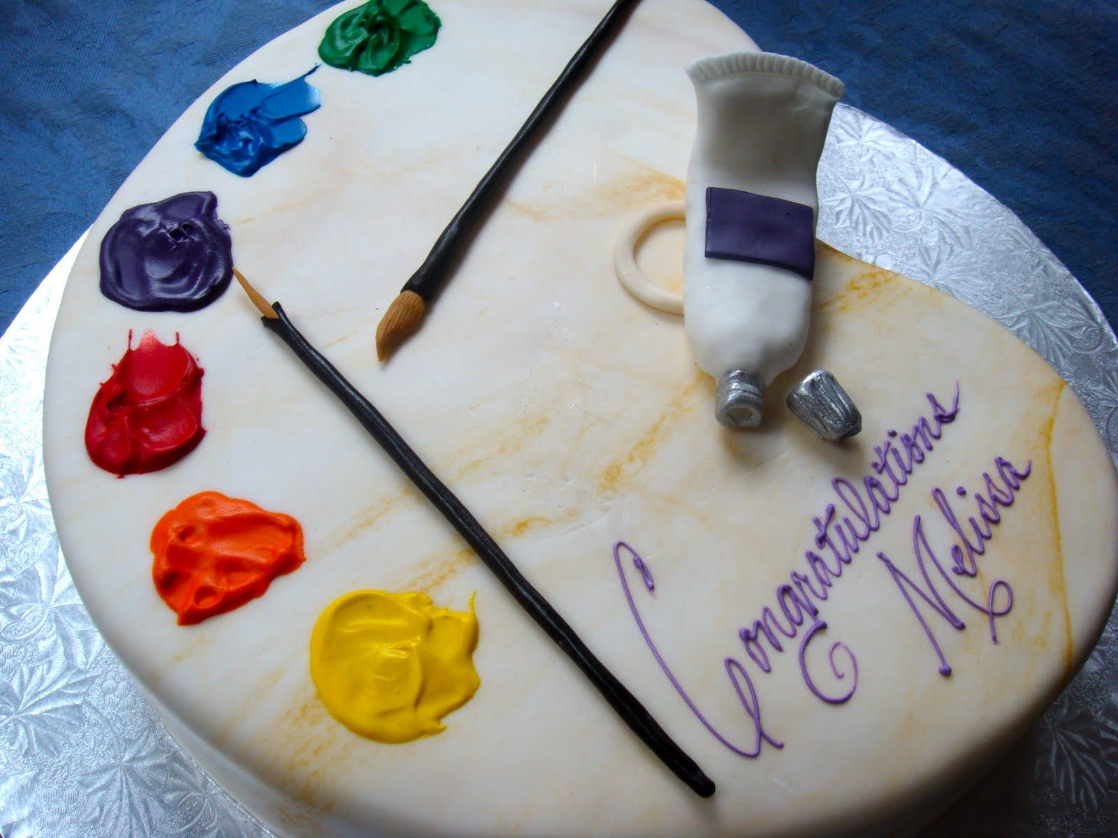 picture images of artist palet birthday cakes Artist