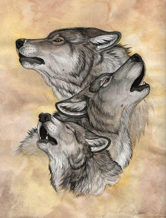 может картинки тату волчица с волчатами самом