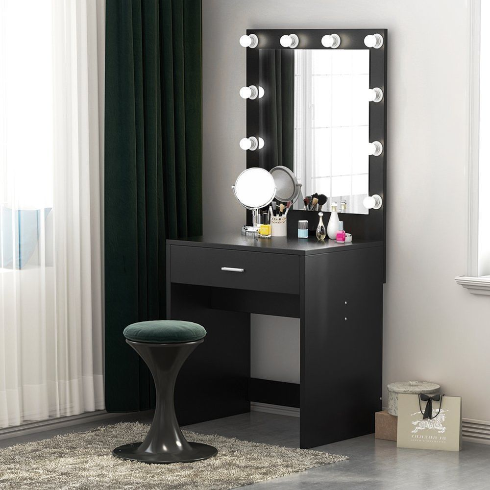 Nbsp Nbsp Tribesigns Lighted Vanity Table Set With Huge Mirror