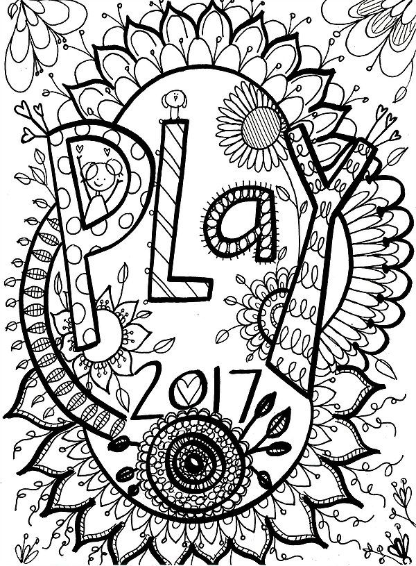 Free Printable Coloring Page Word Of The Year PLAY Home Artist Stephanie Ignazio Inspiration Beauty Kindness Support And Soul Encouragement In