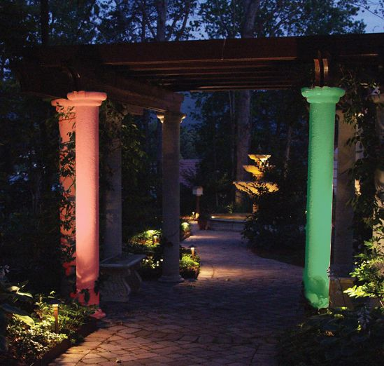 Colored lens covers can change the mood at your clearwater or tampa colored lens covers can change the mood at your clearwater or tampa bay home pergola lightinglandscape aloadofball Gallery