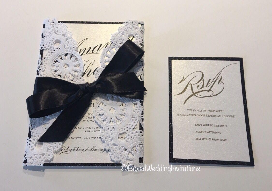 Wedding invitation card made of white … | Luxury Wedding Invitations ...