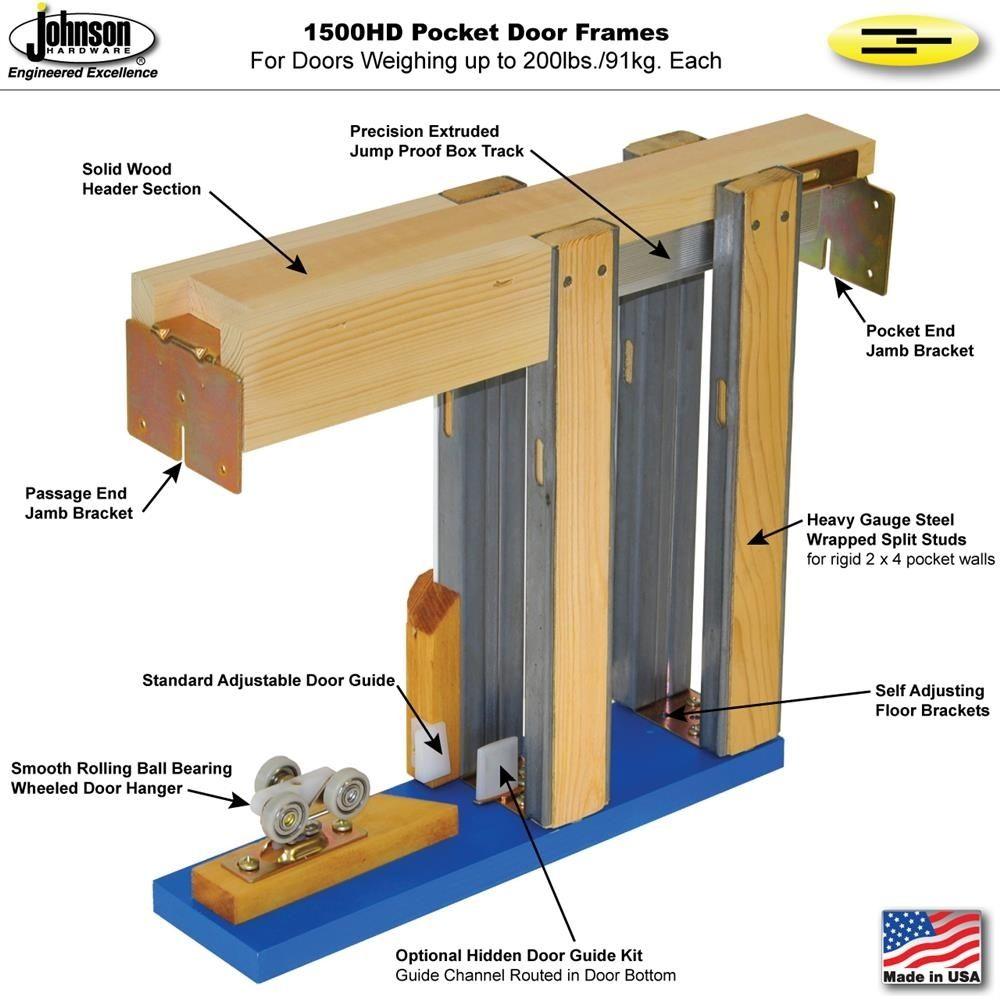 Oak Pocket Door Jamb Kit Framedouble
