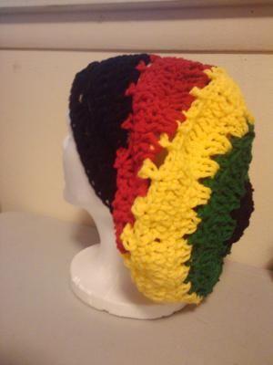 New Crochet Rasta Beanie Hat | hats | Pinterest