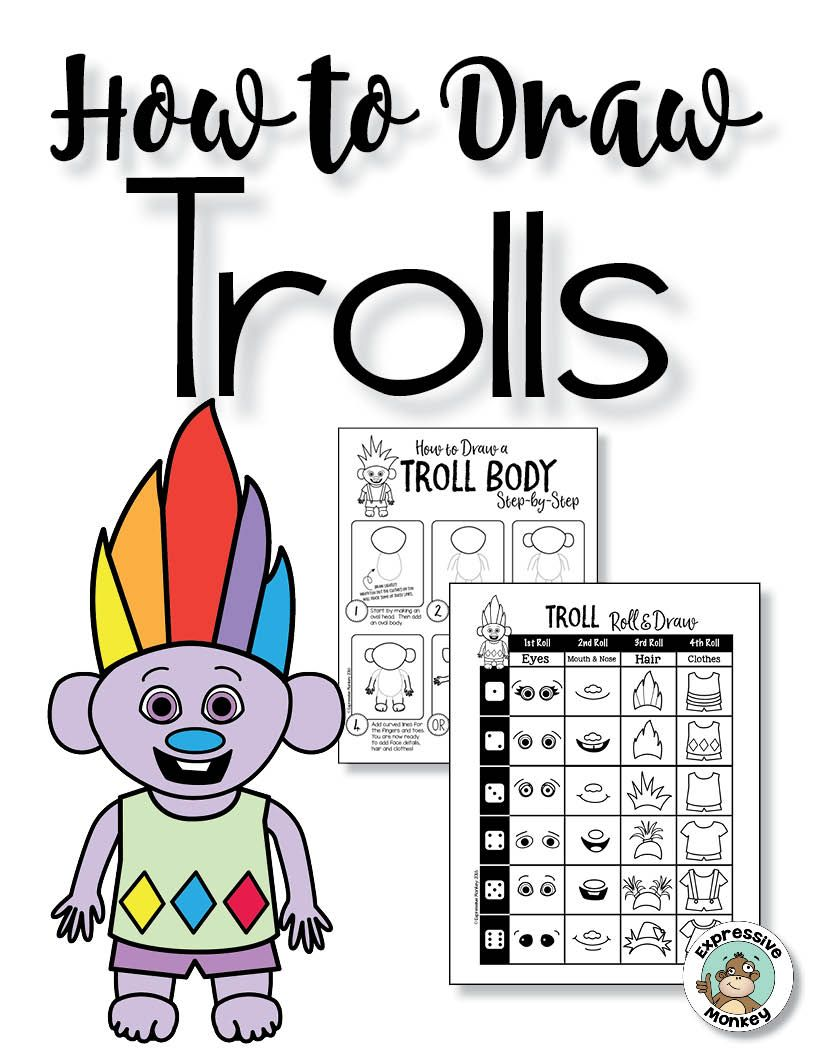 Troll Directed Drawing with Choices | Expressive Monkey Online ...
