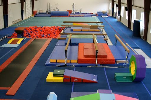 This Is My Gymnastics Gym And There Is Another Side To It But The Picture Cant Fit That In Ad Gymnastics Gym Gymnastics Bedroom Dream Gym