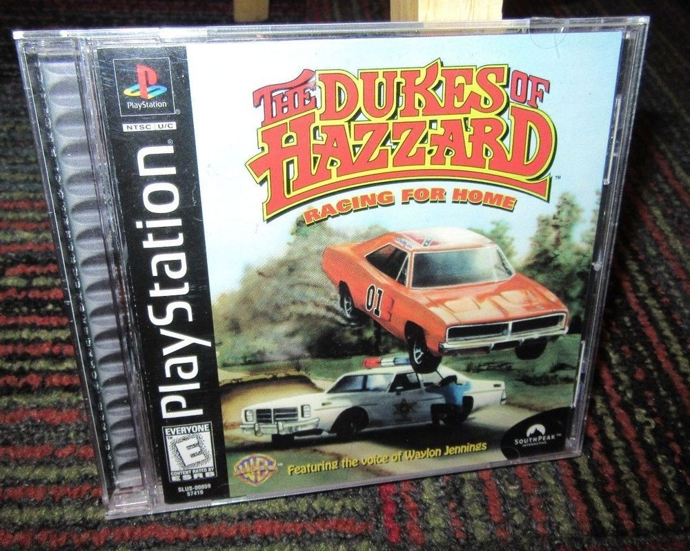 DUKES OF HAZZARD: RACING FOR HOME GAME FOR PLAYSTATION PS1