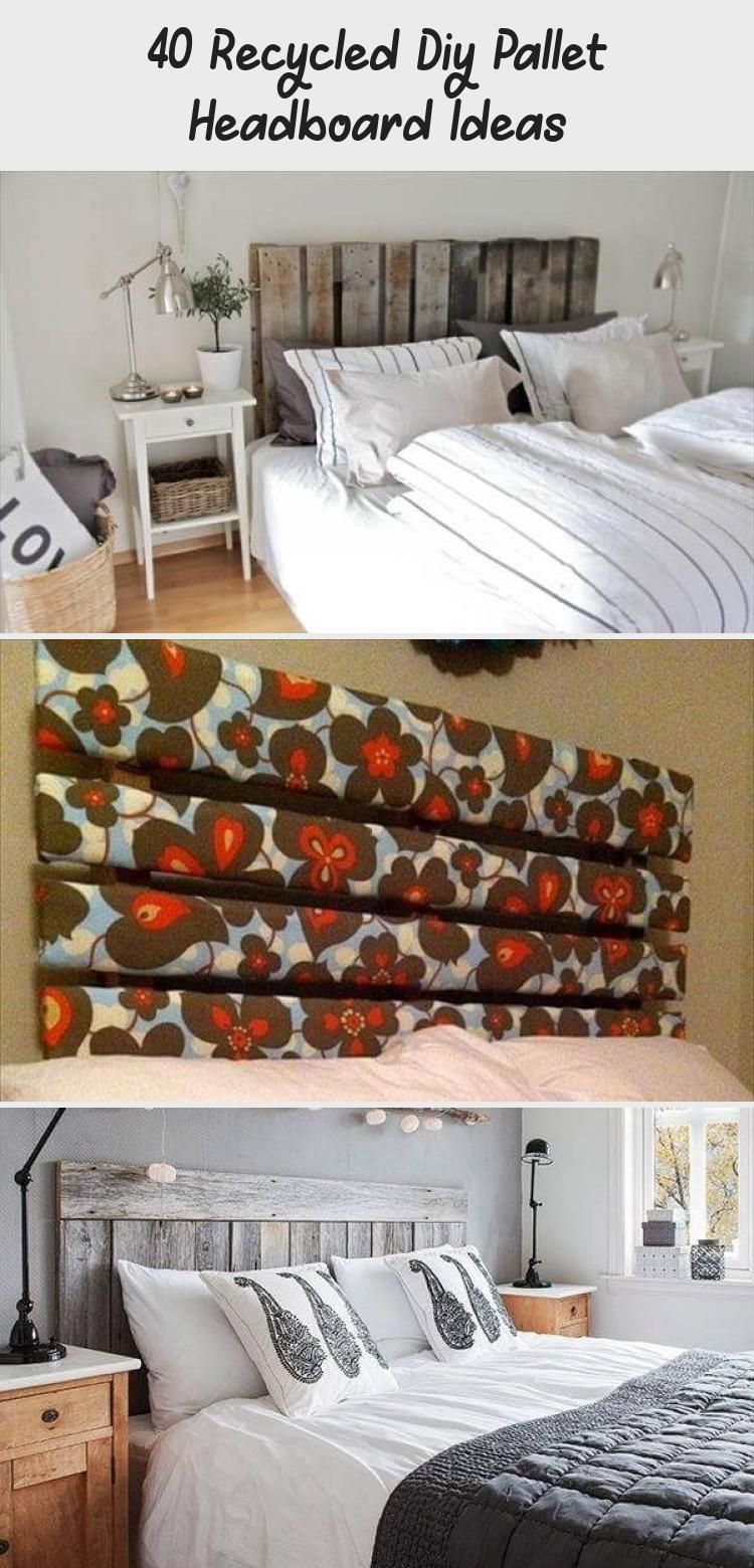40 Recycled Diy Pallet Headboard Ideas - Pinokyo #palletheadboards