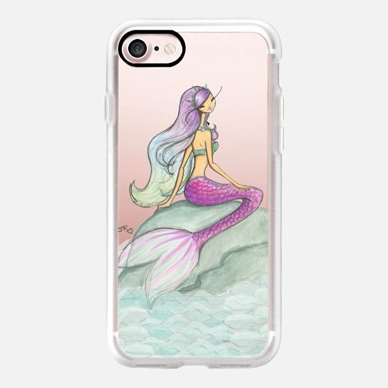 Casetify iPhone 7 Case and Other iPhone Covers - Melody the mermaid by Josefina Fernandez | #Casetify
