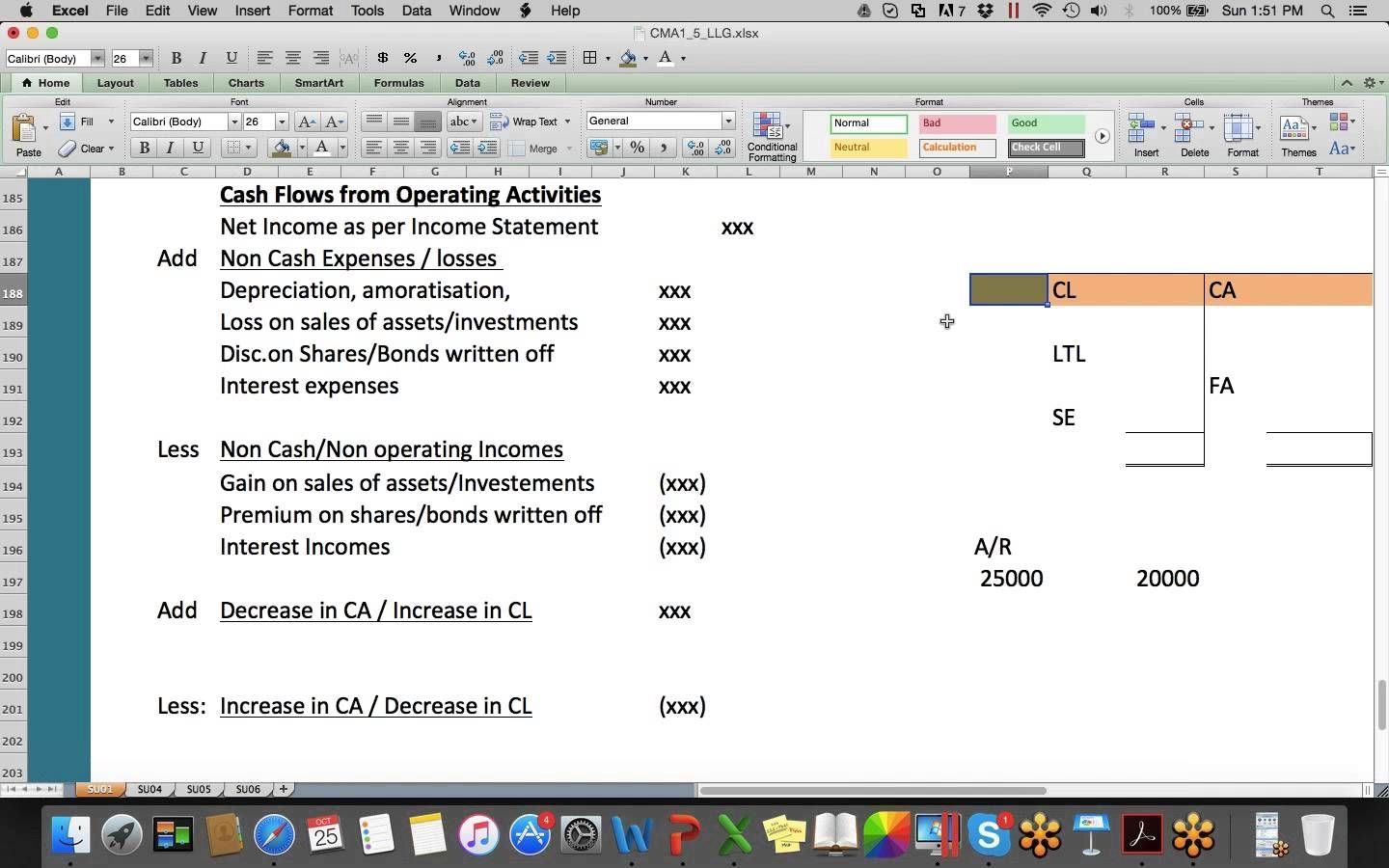 Letslearn GlobalCma Part Cash Flow Statement  Professional