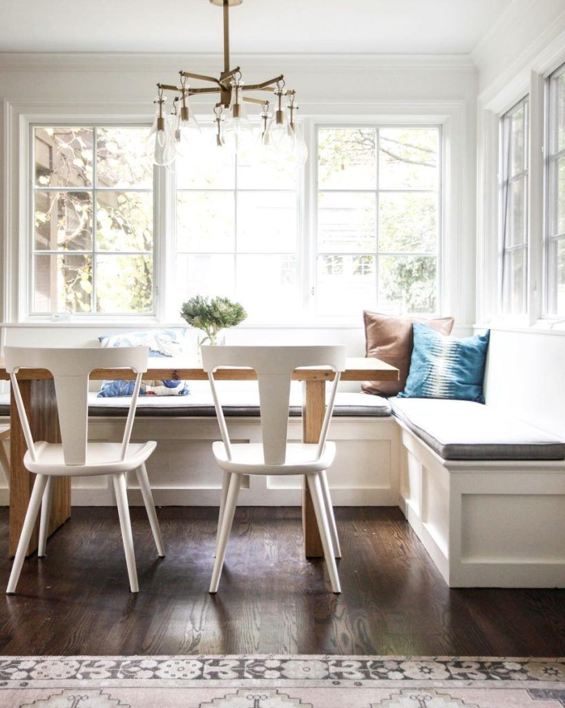 Friday Favorites Starts With Making Your Bed Nesting With Grace Transitional Dining Room Window Seat Kitchen Dining Room Windows