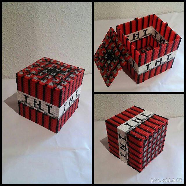 minecraft tnt box hama beads by mundo hama perler. Black Bedroom Furniture Sets. Home Design Ideas