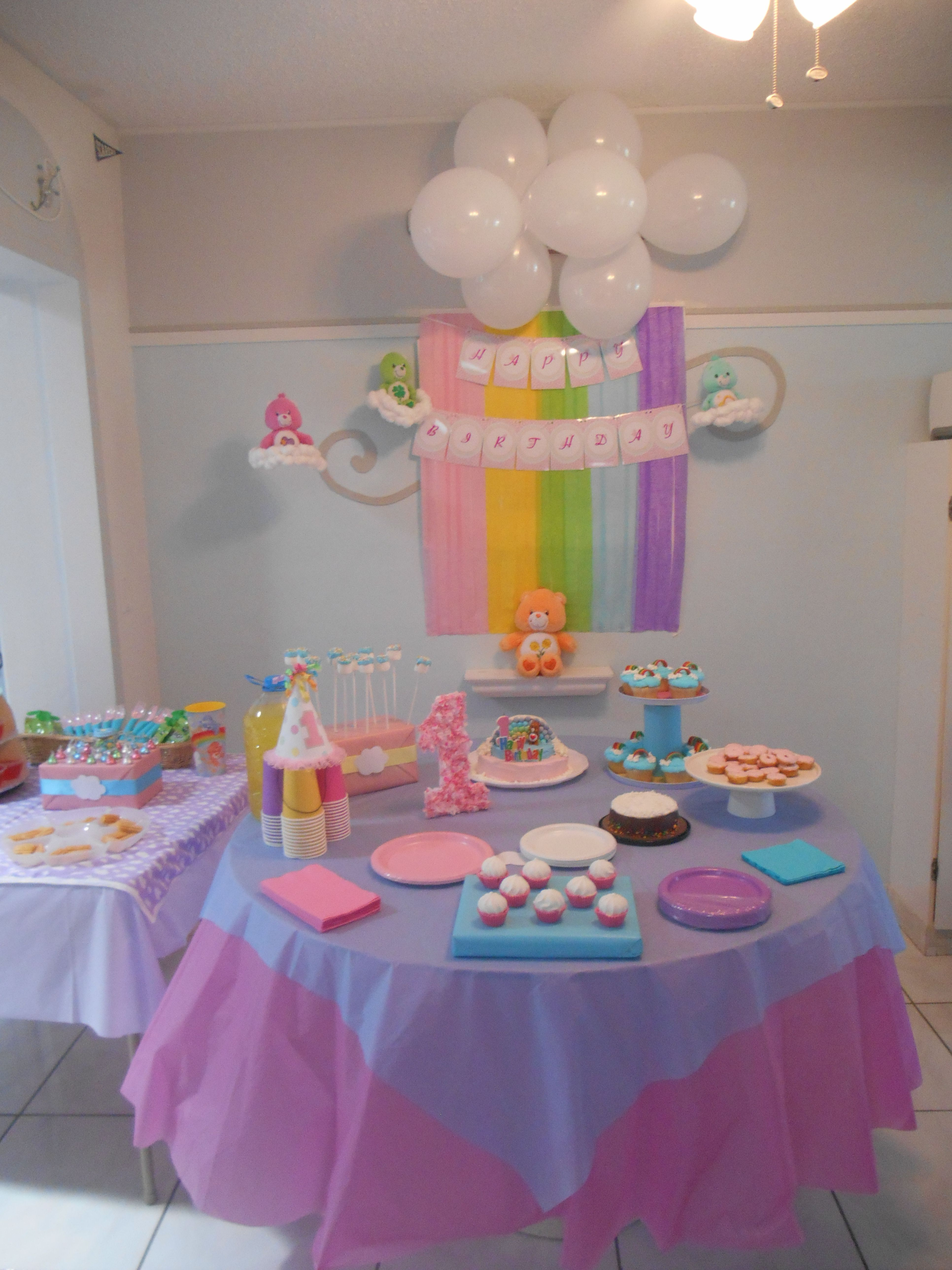 Care Bears Birthday Party Decoration Background