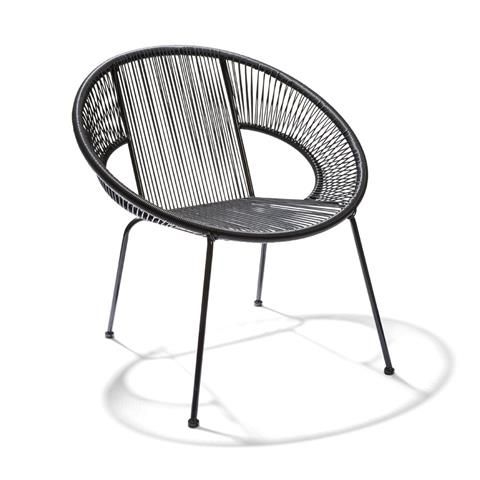 acapulco chair target round folding chairs replica dining - black | kmart lounge pinterest acapulco, and balconies