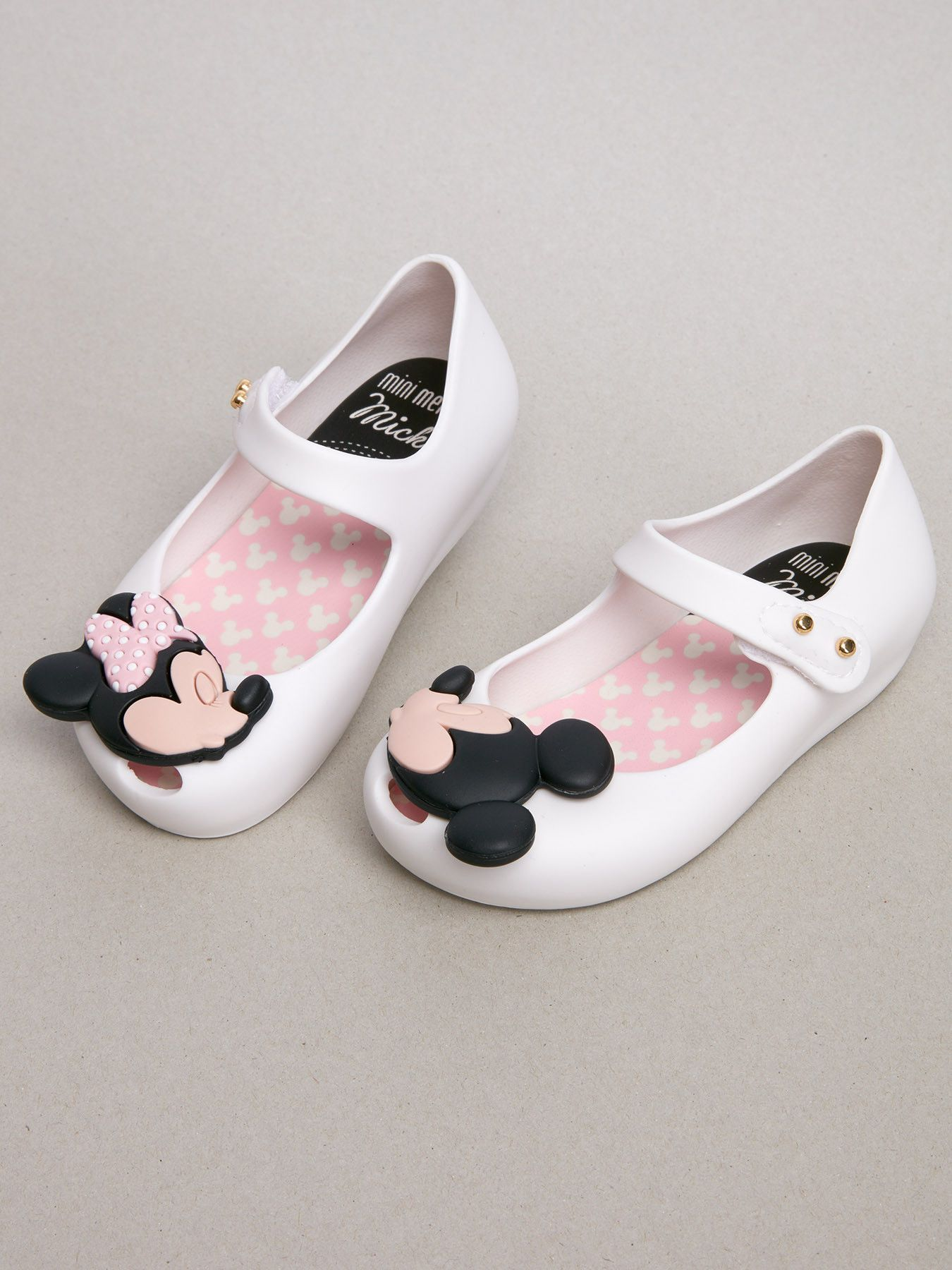 bfd328ddc6d4 The style   quality you expect from Mini Melissa in a Minnie   Mickey shoe.
