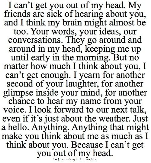 I Cant Get You Out Of My Head Quotes Sayings Love Quotes