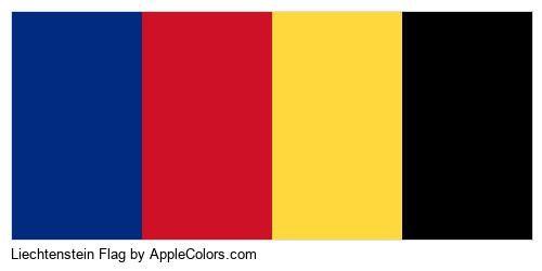 World Liechtenstein Flag Country Flags #002b7f #ce1126 #ffd83d #000000