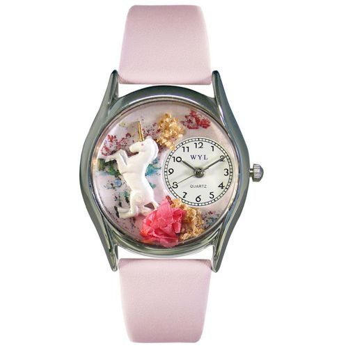 Whimsical Watches Women's S0420001 Unicorn Pink Leather Watch $44.61