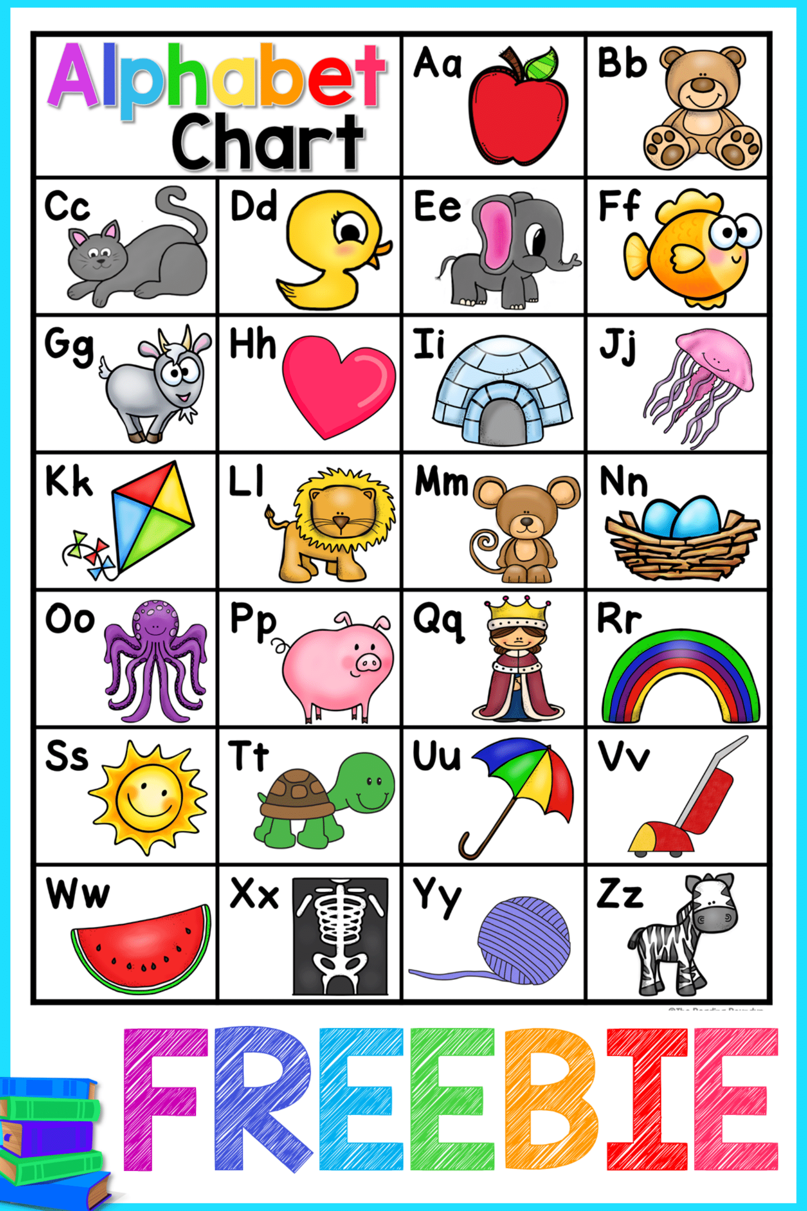 This Free Printable Alphabet Chart Is Perfect To Help Your