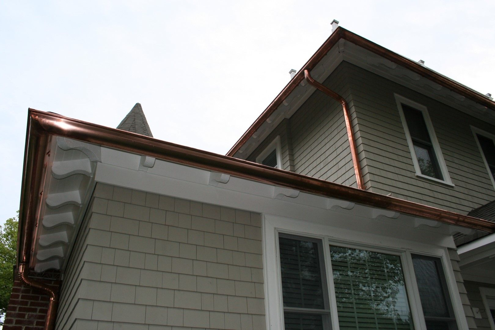 Half Round Copper Gutters Images Copper Gutters Gutters Round