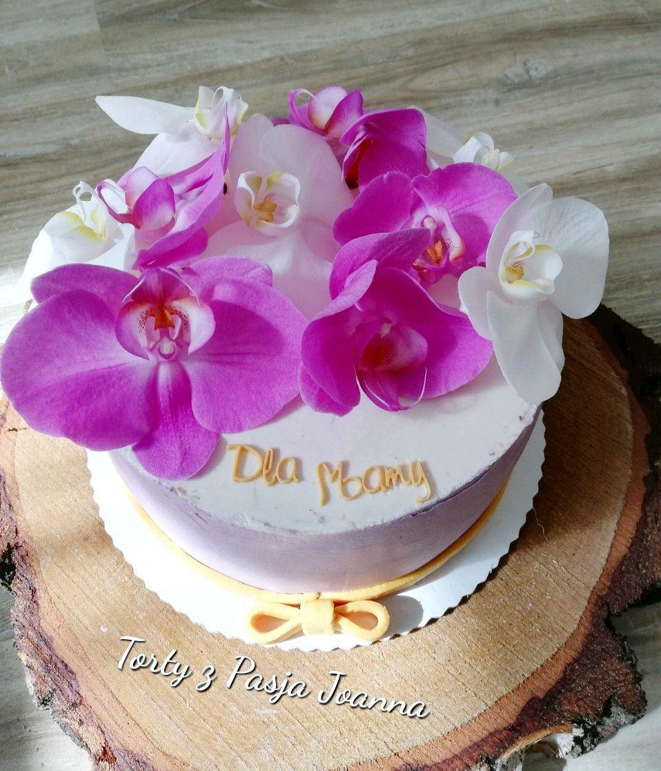 Tort Zywe Kwiaty Zywekwiaty Orchidea Desserts Birthday Cake Cake