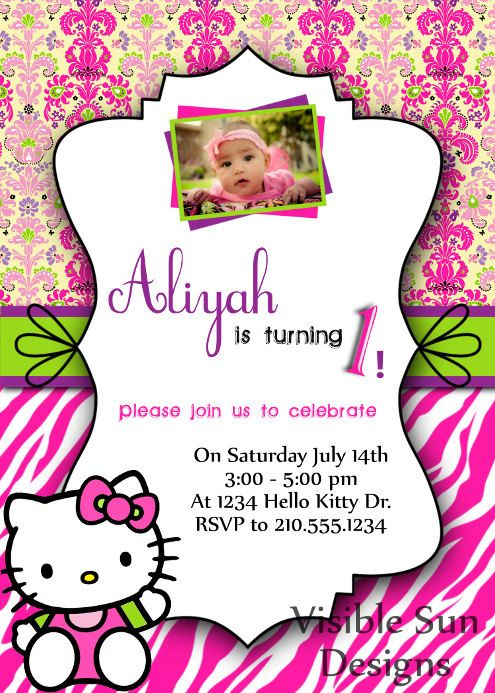 Custom birthday invitations hello kitty theme ideas for avas custom birthday invitations hello kitty theme filmwisefo Image collections