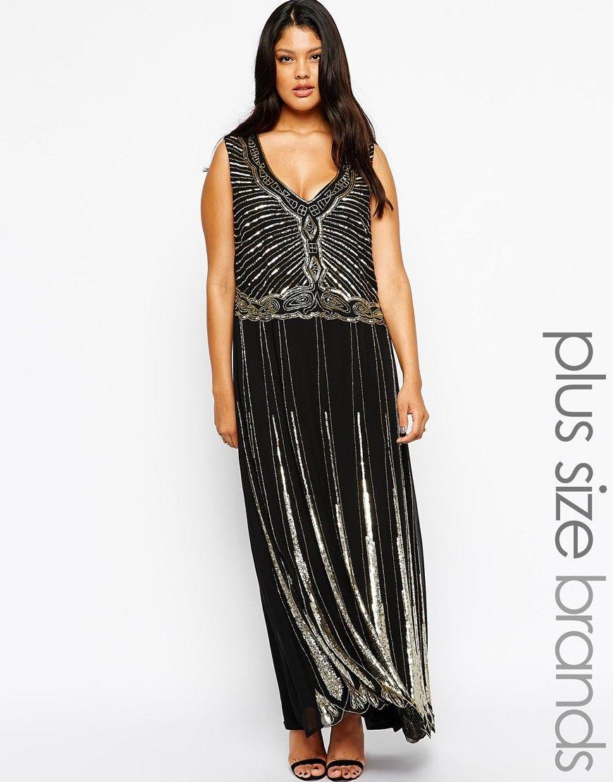 Lovedrobe art deco embellished maxi dress the great gatsby