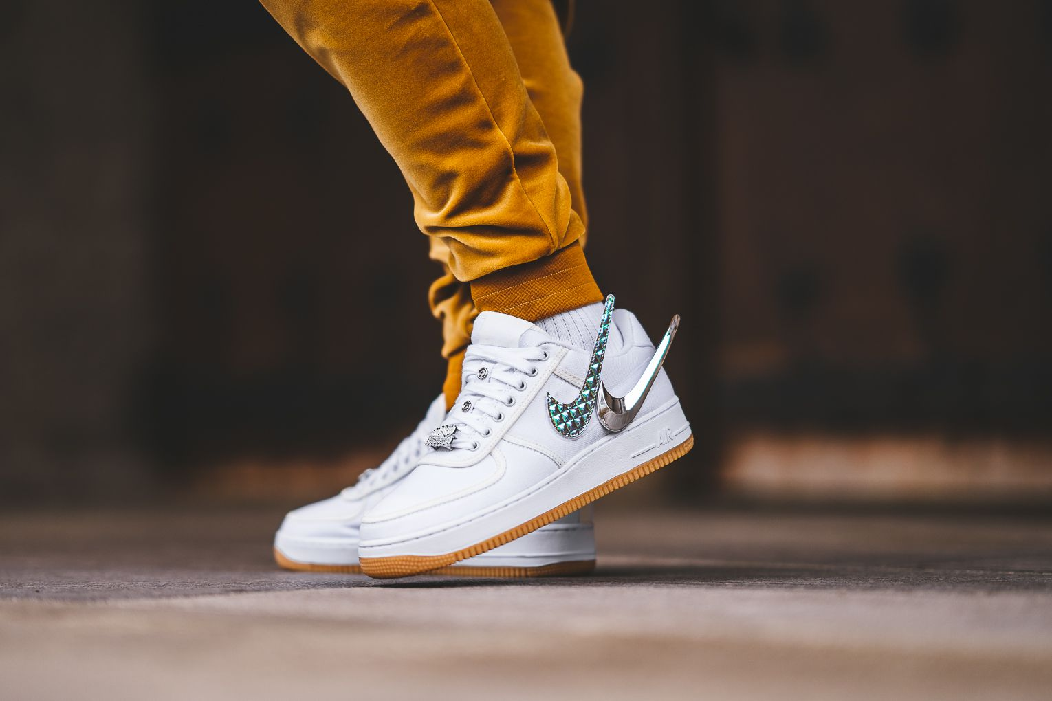 1f76423e169b3 An On-Feet Look At The Upcoming Nike Air Force 1 Low x Travis Scott ...