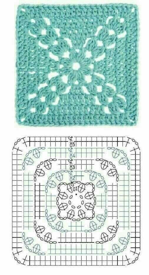 Otro cuadrado crochet. | Tejidos | Pinterest