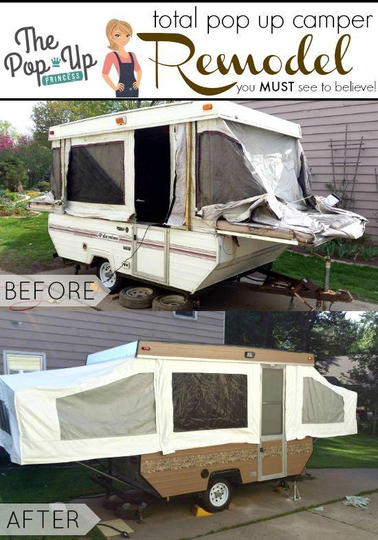 Robert S Pop Up Camper Remodel Remodeled Campers