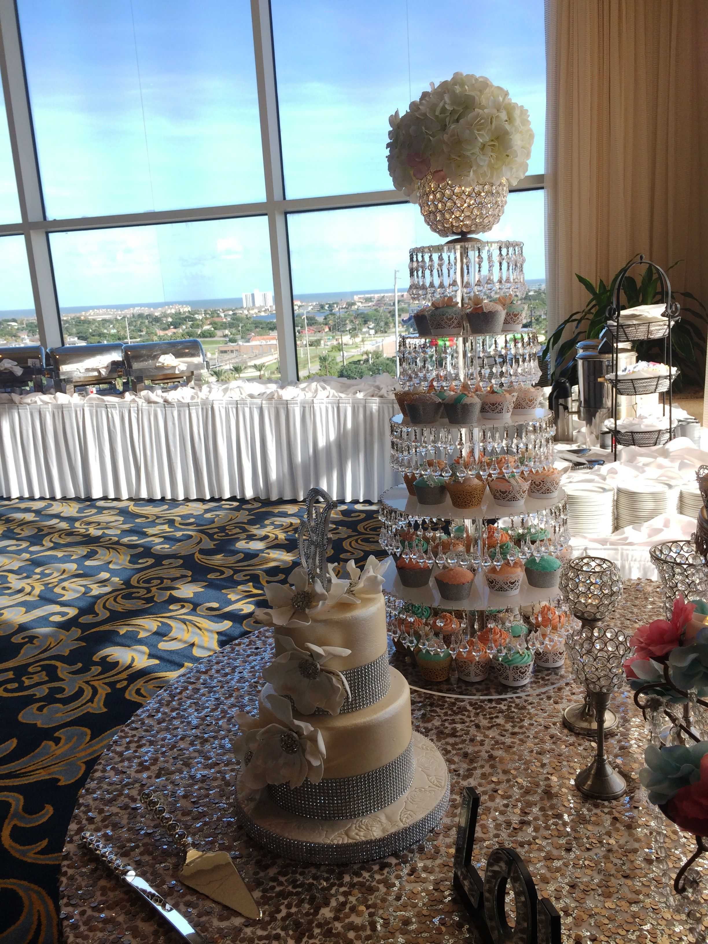 Wedding Reception With A View Of The Ocean Galveston Wedding