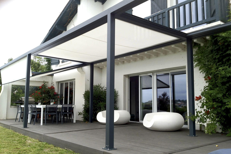Pergola autoportante en aluminium couverture coulissante en toile pvc i - Pergola aluminium pour terrasse ...