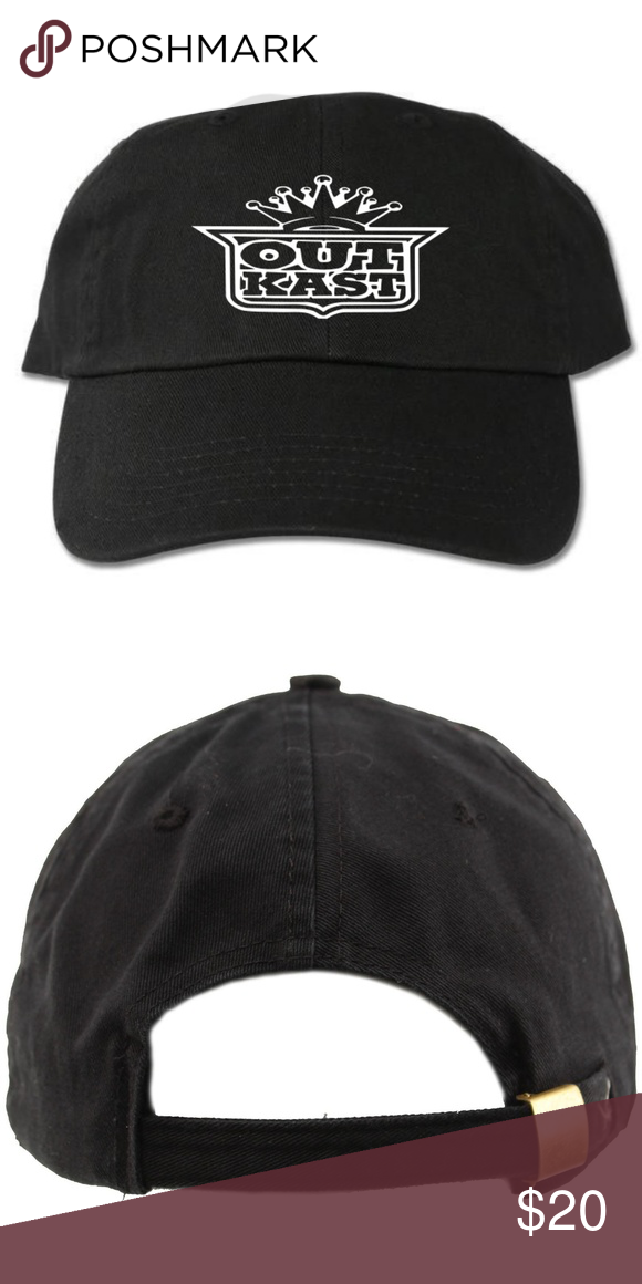 c26fbead Outkast Black Dad Hat 6-panel adult hat Graphic at front Strapback One size  100% cotton Designed with vinyl Accessories Hats