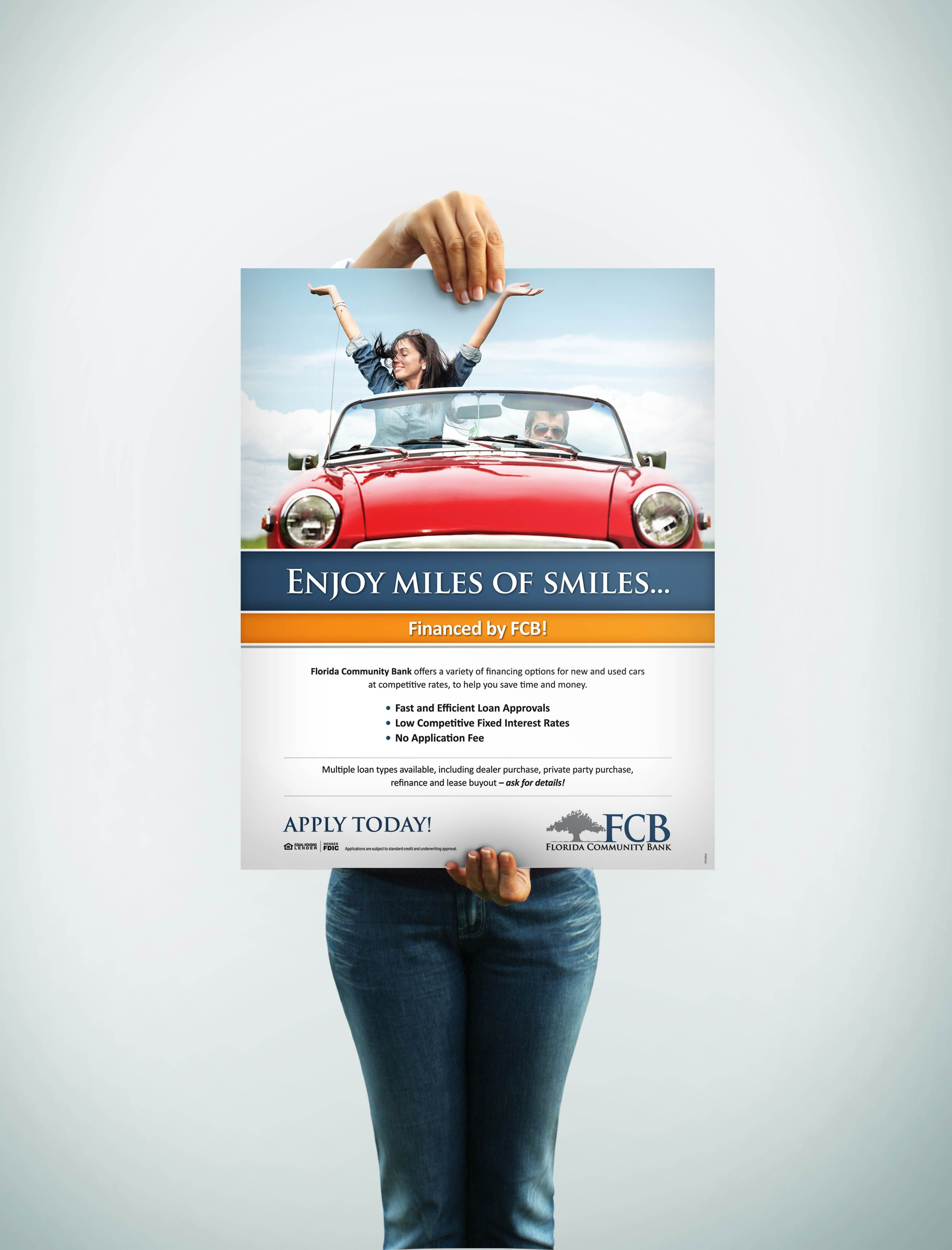 Poster Design Auto Loan For Client Florida Community Bank