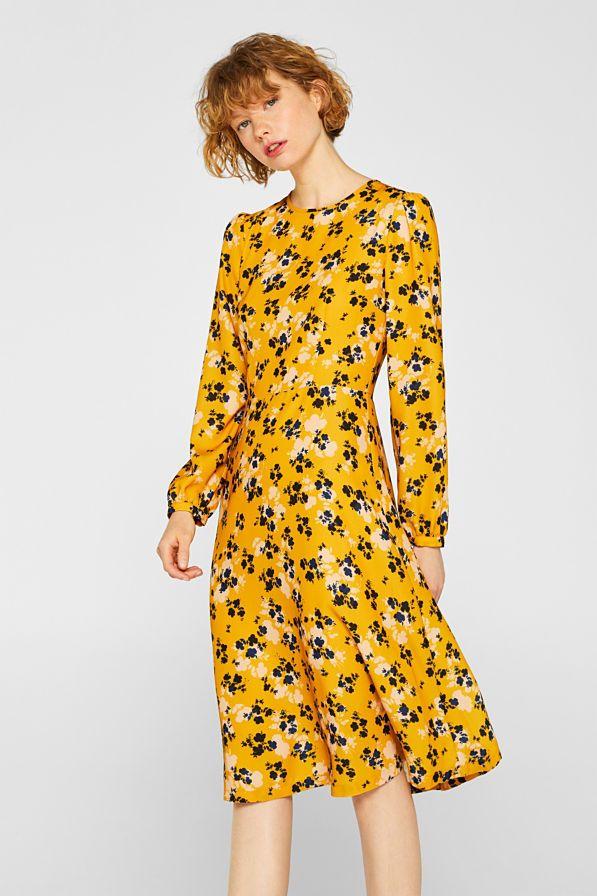 Esprit - Midi-Kleid mit Blumen-Print im Online Shop kaufen ...