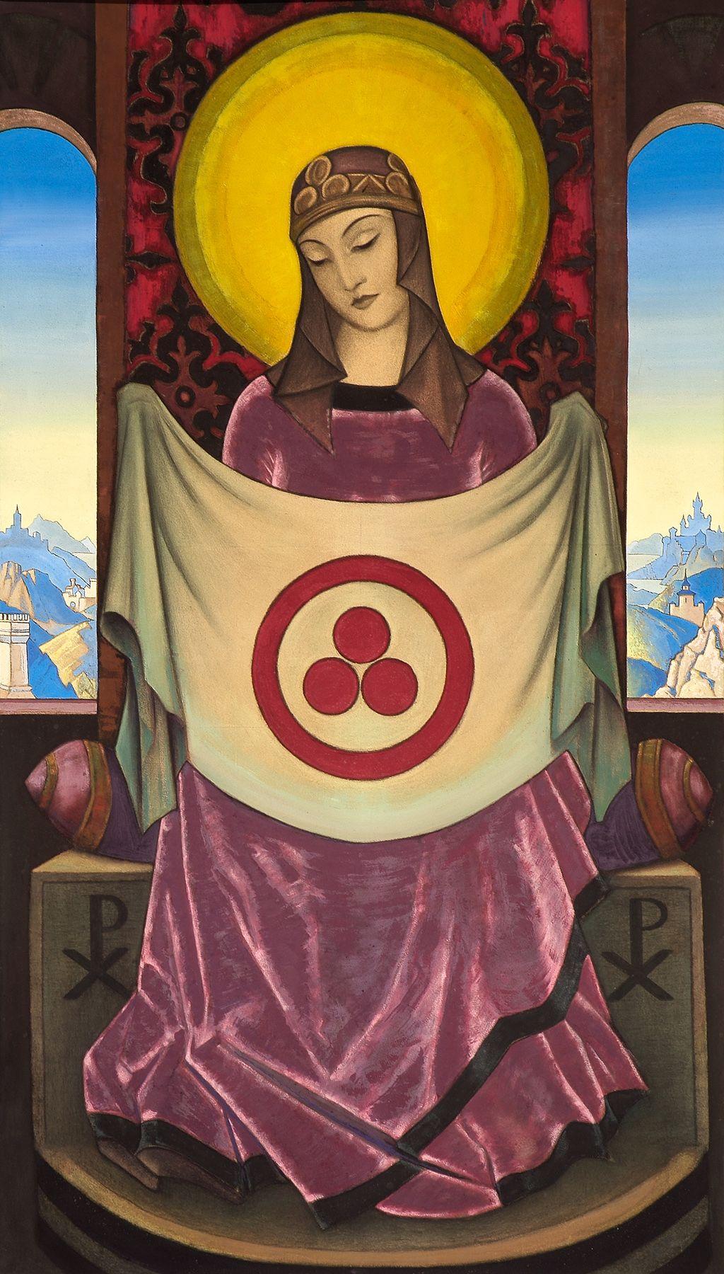 Madonna Oriflamma, Nicolás Roërich. 1932
