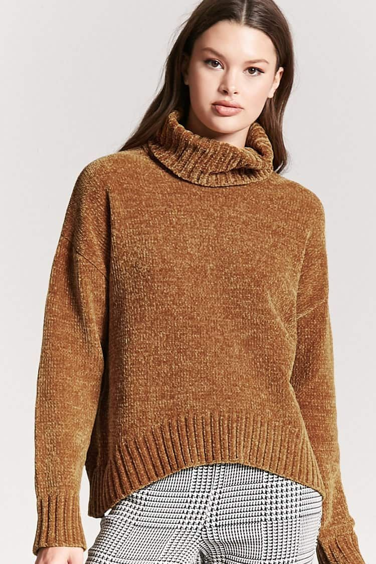 Product Name:Chenille Turtleneck Sweater, Category:sweater
