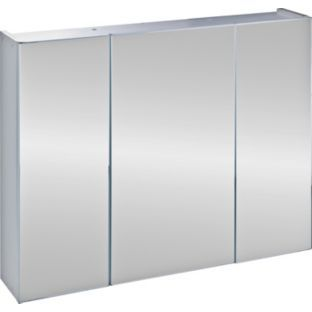 buy triple mirrored bathroom cabinet white at argoscouk your online
