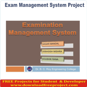 Free Online Exam Management System In PHP Projects Download