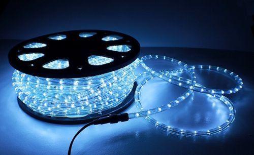 Flexible Cool White Illuminated LED Neon Rope Tube Light 50foot 1200