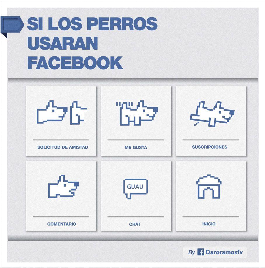 Si los perros usaran Facebook. Ilustración por Daro Ramos.