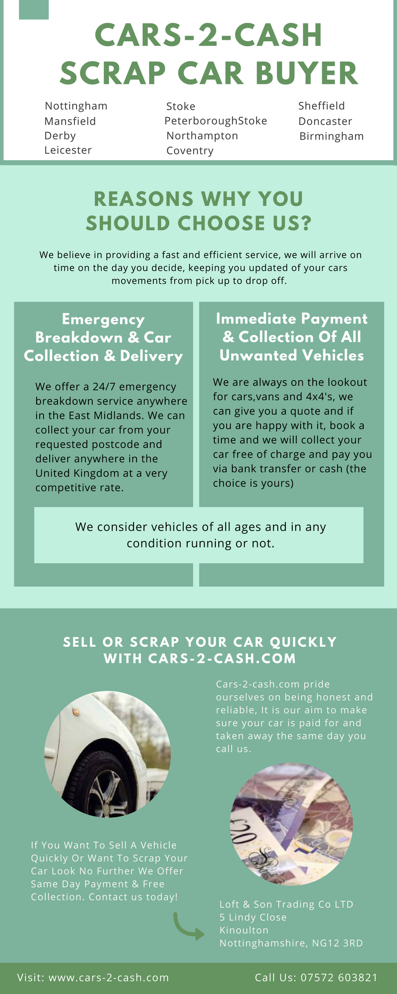 We believe other scrap car buyers in derbyshire can not match our ...