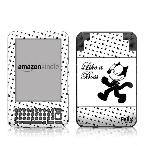 Felix Like a Boss Design Protective Decal Skin Sticker for Amazon Kindle Keyboard / Keyboard 3G (3rd Gen) E-Book Reader - High Gloss Coating by MyGift. $16.99. This scratch resistant skin sticker used High Gloss Coating which is the standard glossy finish and helps to protect your Kindle Keyboard / Keyboard 3G (3rd Generation - release in July 2010) E-Book Reader while making an impression. Self-adhesive plastic-coated skins cover the front and back surfaces of the K...