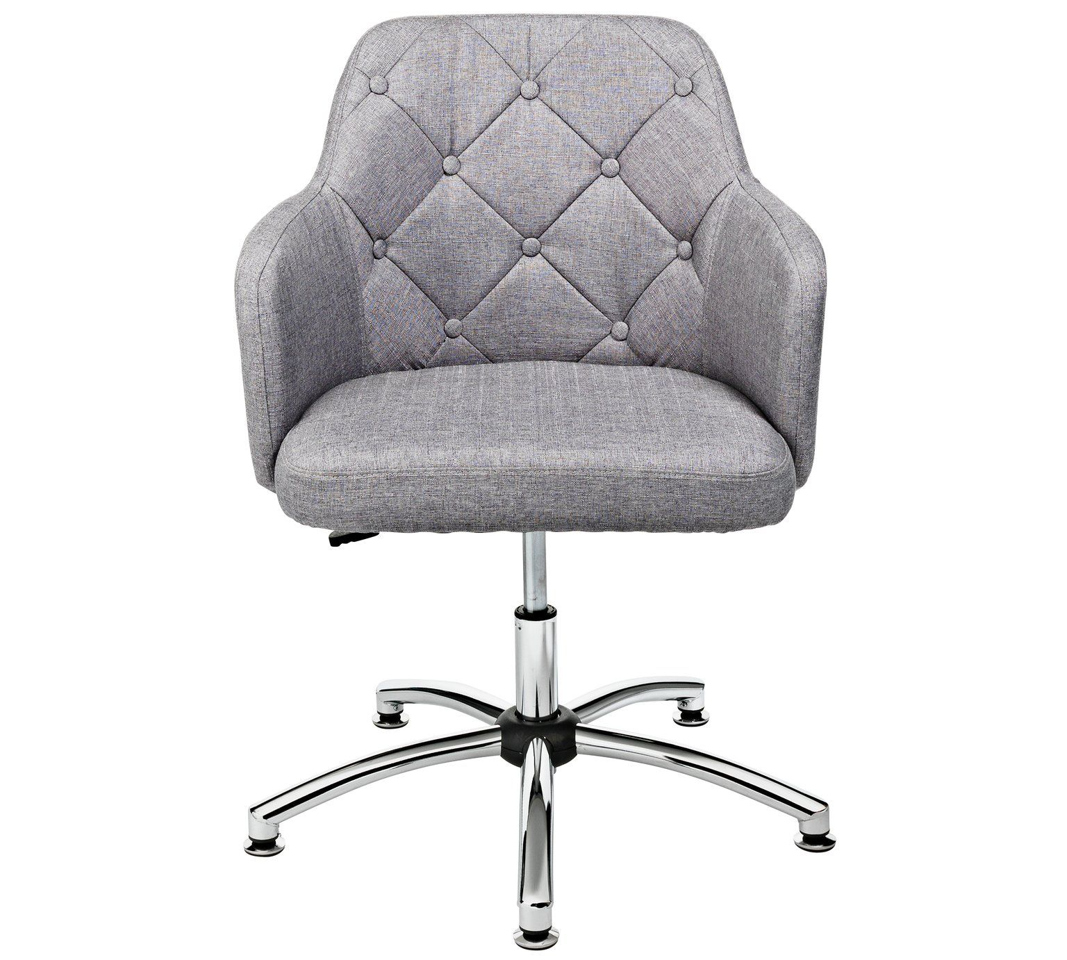 Buy Argos Home Button Back Fabric Office Chair Grey