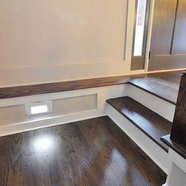 Jacobean Staircase Design Ideas Pictures Remodel And Decor Small Space Interior Design Staircase Design Red Oak Hardwood Floors